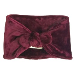 Bandeau Velours Bordeaux